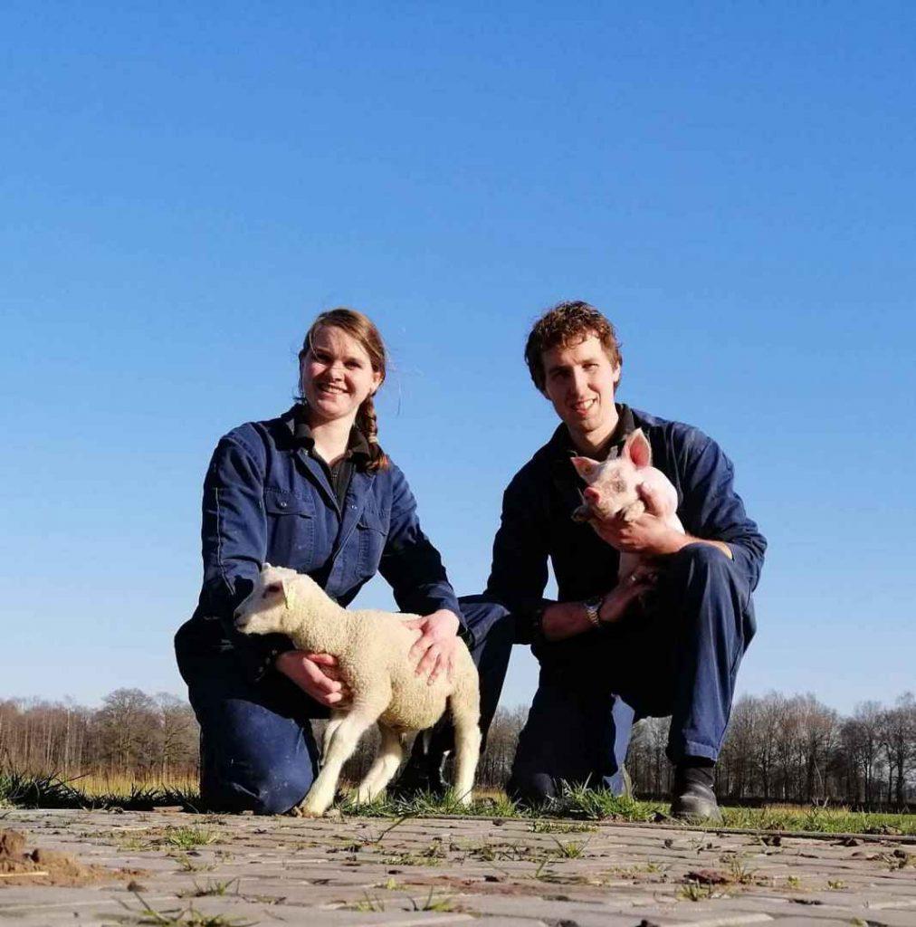 Peter en Stefanie van de biologische varkenshouderij